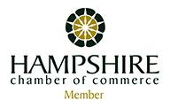 Hampshire Chamber  of Commerce logo in green and gold